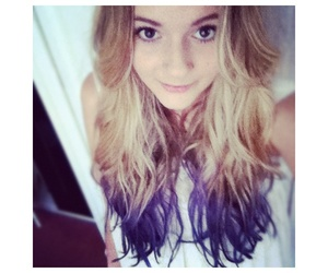 blonde, hair, and lilac image