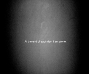alone, text, and black image