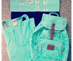backpack, girly, and sweater image