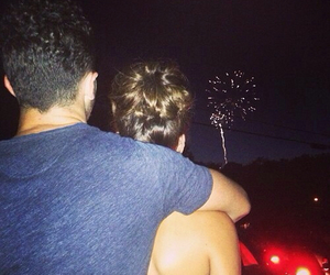 couple, fireworks, and kevin jonas image