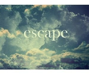 sky, escape, and clouds image