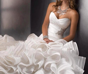 wedding, dress, and pretty image