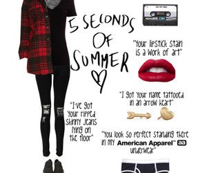 american apparel, flannel, and outfit image