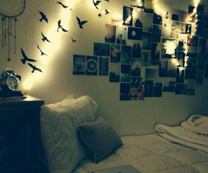 room, birds, and pictures image