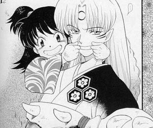 sesshoumaru, inuyasha, and rin image