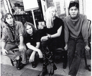 black, blonde hair, and the smashing pumpkins image