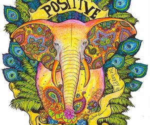 elephant, hippie, and positive image