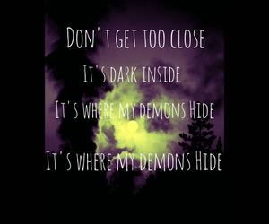 dark, demons, and depressed image