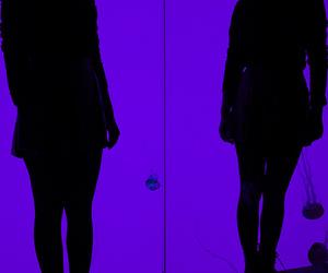 purple, glow, and dark image