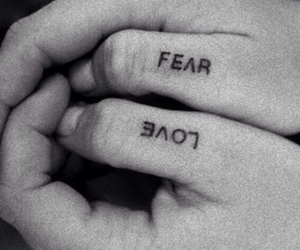 black and white, quotes, and fear image