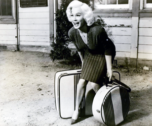 bags, blonde, and vintage hair image