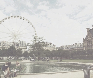 photography, city, and ferris wheel image