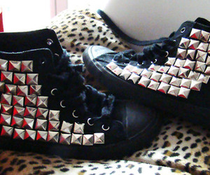black, punk, and studs image