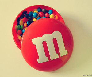 food, chocolate, and m&m image