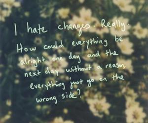 change, flowers, and sad image