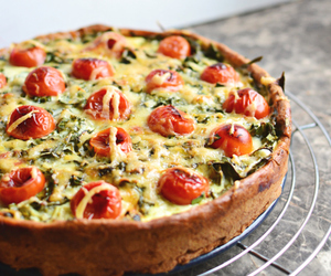 cheese, crust, and vegetables image
