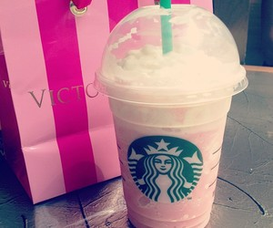 starbucks, love, and pink image