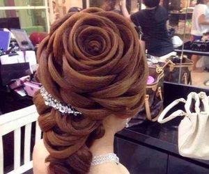 hair, rose, and hair-do image