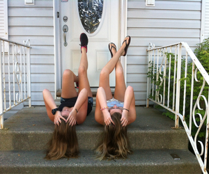 best friend, laying down, and outside image