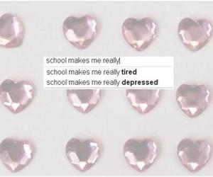 school, heart, and pink image