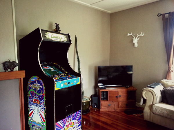 arcade, machine, and space invaders image