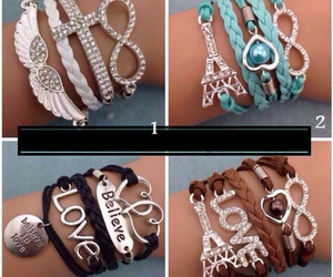bracelets, eiffel tower, and cute image