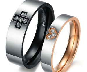 titanium rings, lover's rings, and fashion lover's rings image