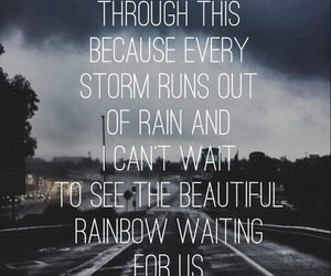 quotes, rain, and rainbow image