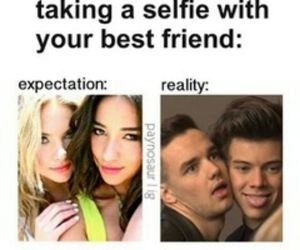 selfie, one direction, and funny image