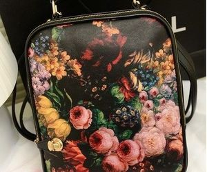 bag, floral, and Oil Painting image