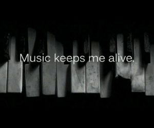 alive, black and white, and music image
