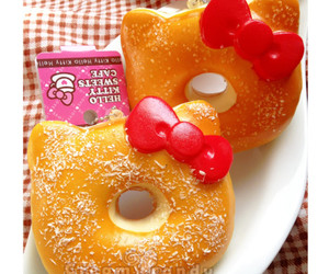 donut, hello kitty, and cute image
