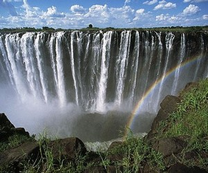 Victoria Falls and waterfall image
