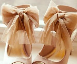 heels, romantic fashion, and bow heels image