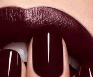 dark, lips, and fashion image