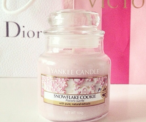 dior, pink, and candle image