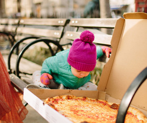 pizza, baby, and child image