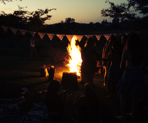 fire, picnic, and love image