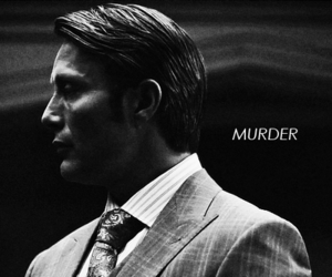 black and white, hannibal, and killer image