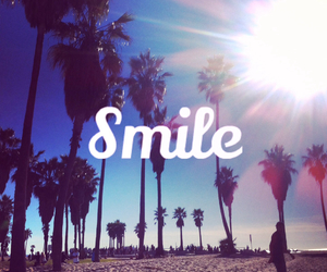 smile, summer, and beach image