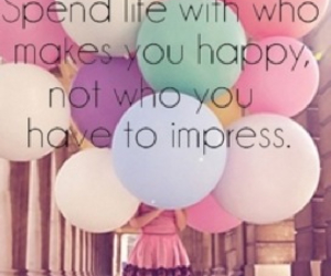 happy, life, and balloons image