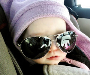 baby, sunglasses, and cute image