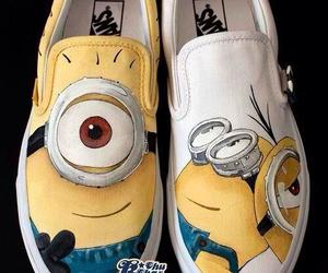 minions, shoes, and vans image