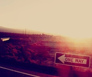 one way, road, and way image