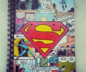 comic, superman, and notebook image