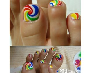 colorful, lollipop, and nail art image