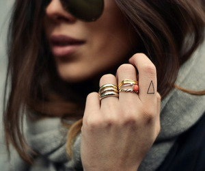 fashion, tattoo, and rings image