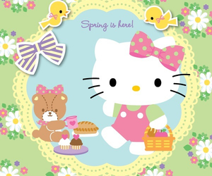 hello kitty, spring, and cute image