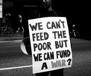 war, poor, and quotes image