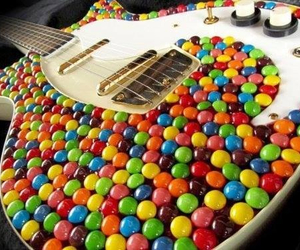 guitar, music, and candy image